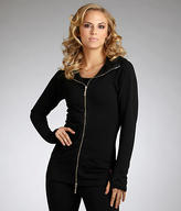 Hard Tail Hooded Double-Zip Jacket with Thumbholes