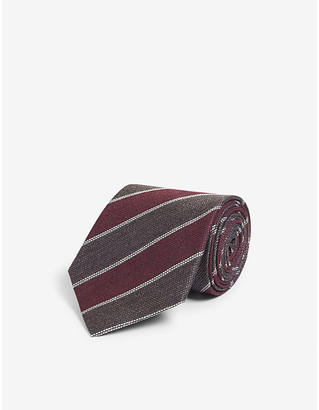 Eton Diagonal stripe silk tie