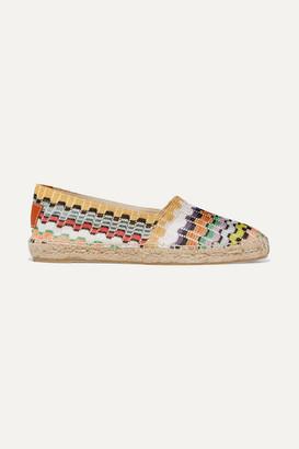 Castaner Missoni Kenda Crochet-knit Espadrilles - White