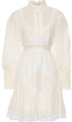 Zimmermann Lace-trimmed Floral-print Silk-chiffon Mini Dress