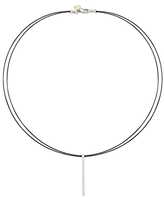 Alor Black Cable Collar Pendant Necklace, 17.5