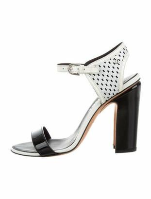 Chanel 2014 Calfskin Sandals White