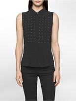 Calvin Klein Studded Sleeveless Top