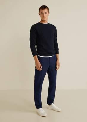 MANGO MAN - Structure cashmere cotton sweater navy - XS - Men
