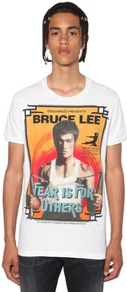 DSQUARED2 Slim Bruce Lee Printed Jersey T-Shirt