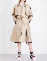 Sharon Wauchob Double-breasted satin trench coat