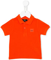 Boss Kids - logo patch polo shirt - kids - Cotton - 6 mth
