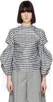 Toga Black and White Gingham Blouse