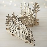 Crate & Barrel 3-Piece Laser-Cut Wood Village