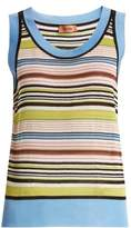 Missoni Striped sheer sleeveless knit top