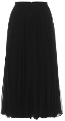 Valentino pleated silk-chiffon skirt