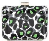 Valentino Printed Enamel Box Clutch