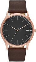 Skagen Men's Dark Brown Leather Strap Watch 41mm SKW6330