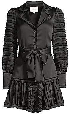 Alexis Women's Renita Fringe Stripe Mini Dress
