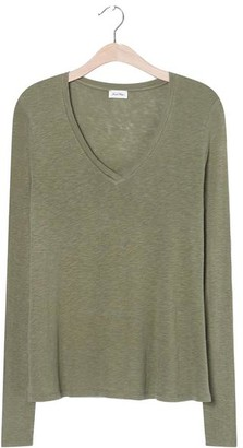 American Vintage Kobibay Long Sleeved Olive T Shirt - X Small