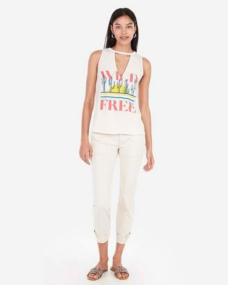 Express Wild Cactus Graphic Cut-Out Tank