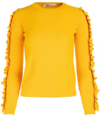 Max Mara Ruffled Sleeve Sweater