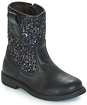 Citrouille et Compagnie JUCKER girls's Mid Boots in Black
