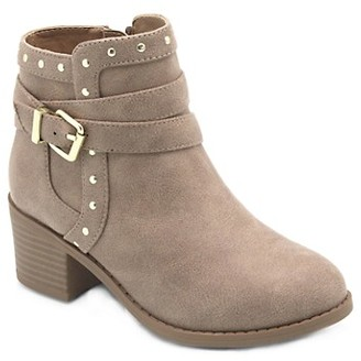 Mia Girl's Faux Suede Booties