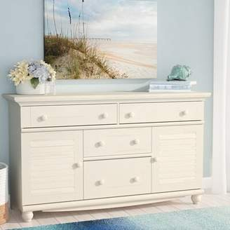 Beachcrest Home Pinellas 4 Drawer Combo Dresser Color: Distressed Antiqued White