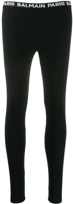 Balmain Logo Waistband Leggings
