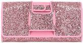 Perrin Paris Glitter Glove-Inspired Leather Clutch