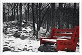 """Wall Art Printing on Metal Tin Decoration Poster Sign of Bench 14562 8""""x12"""" Inches by Photo Digger"""
