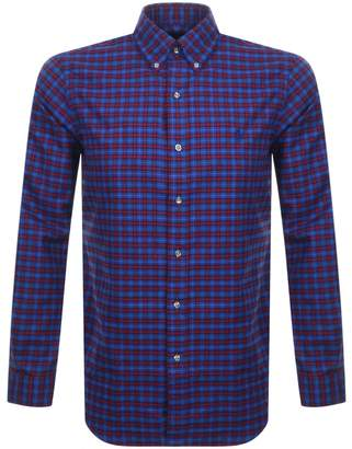 Ralph Lauren Long Sleeved Twill Shirt Blue