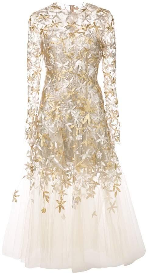Oscar de la Renta sheer-styled ballet dress