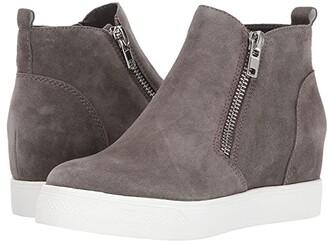 Steve Madden Wedgie Sneaker (Navy Suede) Women's Shoes