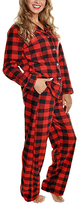 Angelina Black & Red Buffalo Plaid Pajama Set - Plus