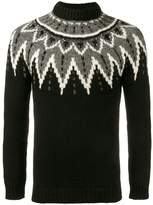 Saint Laurent sequined intarsia jumper