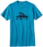 Patagonia Mens Flying Fish Cotton/Poly T-Shirt (Small, Grecian Blue)