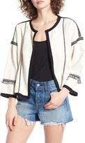 Moon River Women's Fringe Trim Jacket
