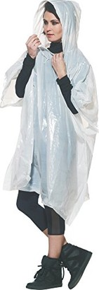 Go Travel Unisex Universal Reusable Waterproof Rain Poncho & Carry Pouch - Twin Pack (Ref 818)