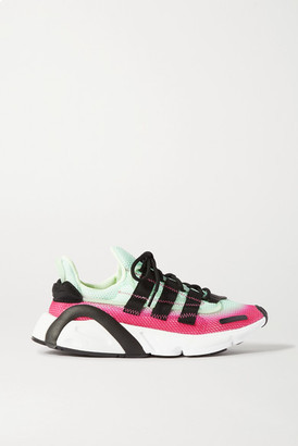 adidas Lxcon Grosgrain-trimmed Two-tone Mesh Sneakers - Green