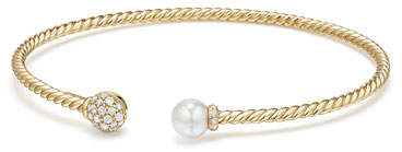 David Yurman Solari Pearl & Diamond Bracelet, Size S