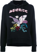 Marcelo Burlon County of Milan embroidered hoodie - women - Cotton - XS