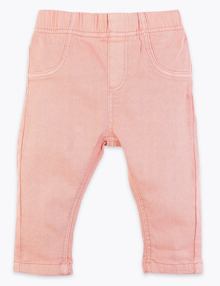 Marks and Spencer Cotton Coloured Jeggings (0-3 Yrs)