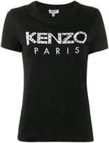 Kenzo logo-applique crew neck T-shirt