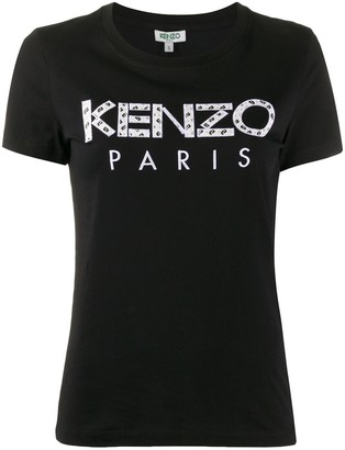 Kenzo logo-applique crew neck T-shirt