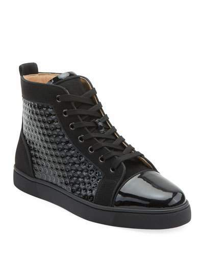 timeless design 2f844 68621 Men's Louis Orlato Textured Patent Leather Sneakers