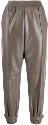 Givenchy leather jogging trousers