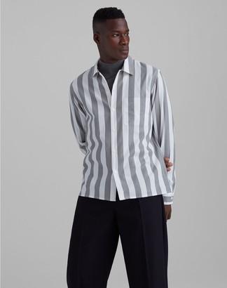 Club Monaco Standard Fit Bold Striped Shirt