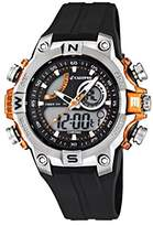Calypso Men's Quartz Watch with Multicolour Dial Analogue Digital Display and Black Plastic Strap K5586/4