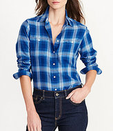 Lauren Ralph Lauren Plaid Cotton Twill Button-Front Shirt
