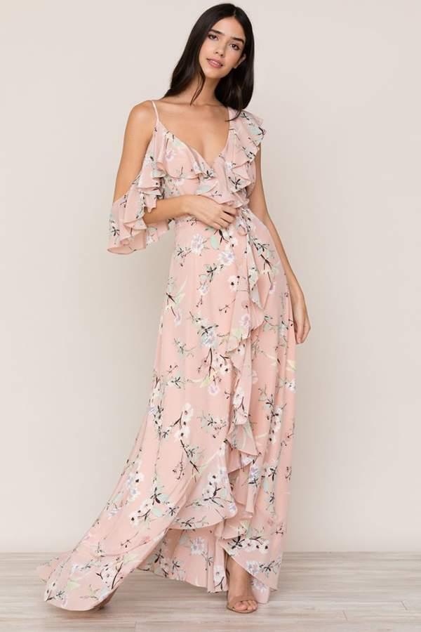 Yumi Kim Butterfly Kiss Silk Maxi Dress