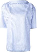 Comme Des Garçons Shirt Boys - pinstripe blouse - women - Cotton - XS