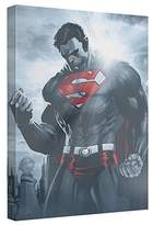 Superman Light Of The Sun Canvas Wall Art With Back Board