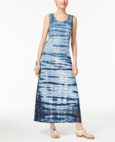 Style&Co. Style & Co Tie-Dyed Maxi Dress, Only at Macy's